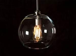 Pendant lighting bulbs : Pendant light fixture edison bulb large globe dan