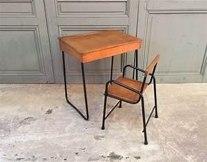 Chaise Bureau Vintage : ensemble bureau et chaise enfant vintage ~ Teatrodelosmanantiales.com Idées de Décoration