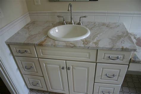install overmount bathroom sink bathrooms cogswellstone