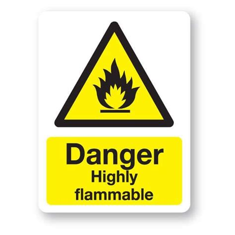 flammable home danger highly flammable sign 300x400mm