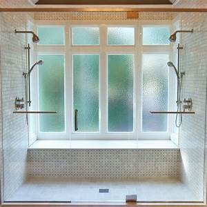 Obscure, Glass, Windows, Bathroom, Transitional, With, Glass