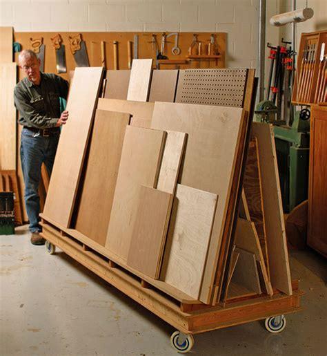 lumber rack  wheels finewoodworking