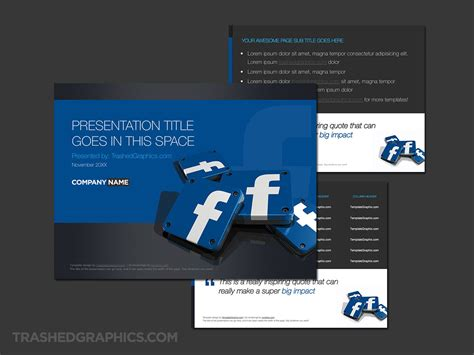 facebook powerpoint template   app icons