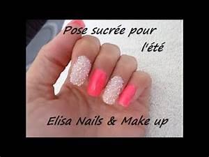 Ongles En Gel Rose : ongle en gel pose effet sucre mini strass sur ongle court rose youtube ~ Melissatoandfro.com Idées de Décoration