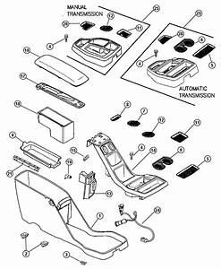 Dodge Dakota Bin  Floor Console  With Automatic