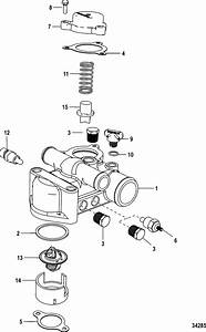 Thermostat And Housing  Standard Cooling For Mercruiser 5