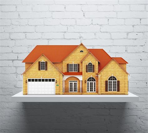 la casa dello scaffale scaffale con la casa illustrazione di stock illustrazione