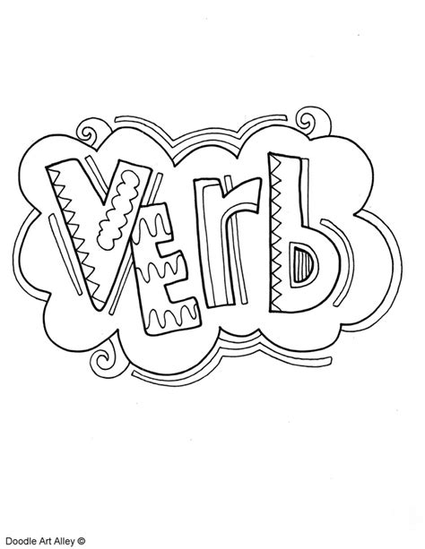 parts  speech coloring pages classroom doodles