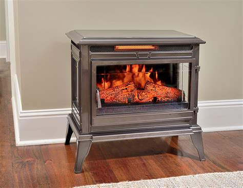 electric fireplace stove comfort smart jackson bronze infrared electric fireplace