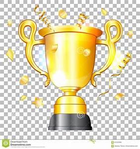 Golden Cup Winner stock vector. Illustration of ...