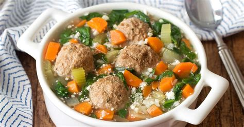 Healthy Italian Wedding Soup Recipe Featuring Cauliflower