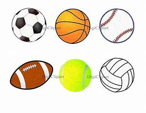 All Sports Balls Clipart