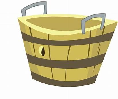 Basket Apple Clipart Bushel Barrel Empty Clip
