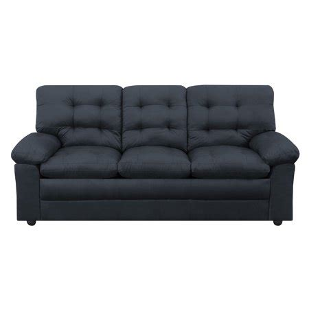 Black Microfiber Sofa And Loveseat by Mainstays Buchannan Sofa Black Microfiber Walmart