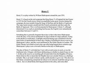 Henry V Essay Assessment Discovery Education Login King Henry V  Henry V Essay Introduction Example How To Write An Essay Thesis also Computer Science Essay  College English Essay Topics