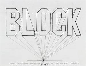 draw 3d block letters With name in block letters