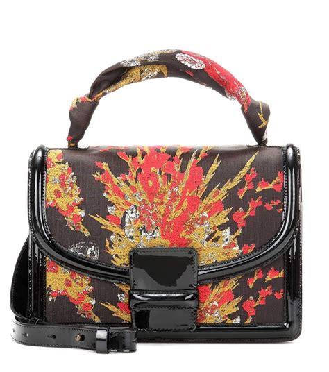 dries van noten jacquard leather shoulder bag modesens leather shoulder bag shoulder bag bags