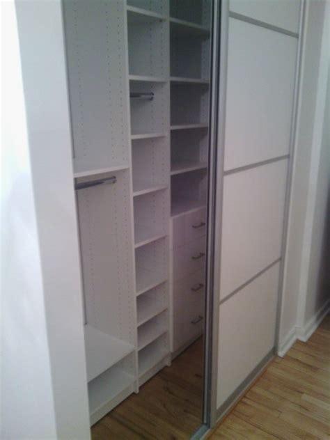 reach in closets with sliding closet door contemporary closet