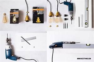 Ikea Tischbeine Höhenverstellbar Anleitung : diy lampe selber machen h ngelampe mit vintage gl hbirne nicest things bloglovin ~ Watch28wear.com Haus und Dekorationen