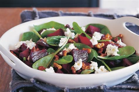 Pumpkin Risotto Recipe Easy by Roasted Beetroot Amp Baby Spinach Salad With Walnut Dressing