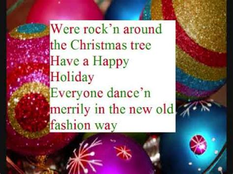 rock n around the christmas tree lyrics youtube