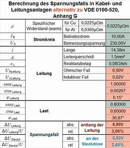 Leitungswiderstand Berechnen : deutsches kupferinstitut spannungsfall ~ Themetempest.com Abrechnung