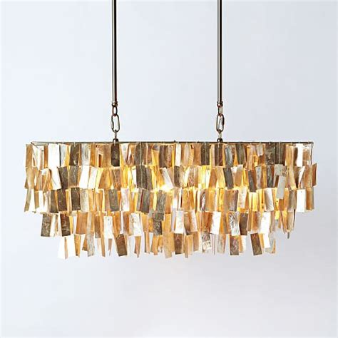 large rectangular capiz pendant gold west elm
