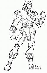 Iron Coloring Pages Strong Popular sketch template