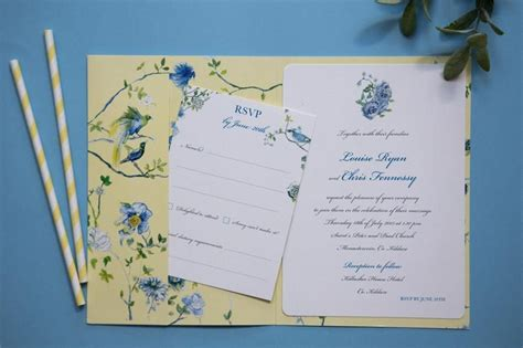 Louise & Chris bespoke chinoiserie pocketfold wedding