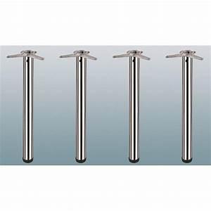 Möbelfüße Metall Eckig : 4er set st tzf e 1100 mm h he edelstahl optik h henverstellbar 20 mm rund 60 mm m belfu ~ Watch28wear.com Haus und Dekorationen