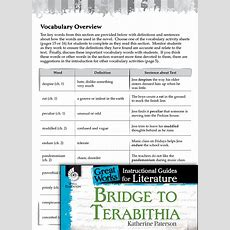 Bridge To Terabithia Vocabulary Activities  Teachers  Classroom Resources