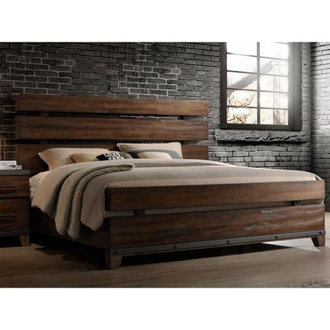 modern rustic brown king size bed forge rc willey