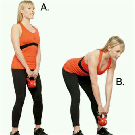 deadlift kettlebell stiff leg calf raises exercise workout exercises skimble muscle description kettlebells equipment alex split primary