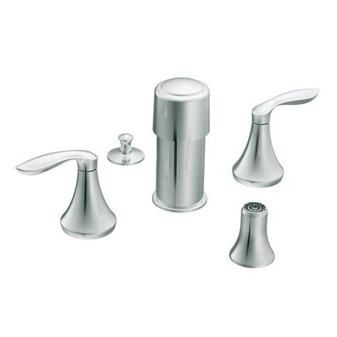 moen eva 2 handle bidet faucet trim kit in brushed nickel