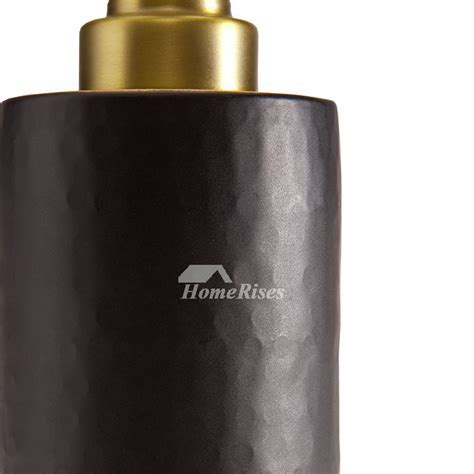 Luxury Vintage Gold & Black Bathroom Liquid Soap Dispenser