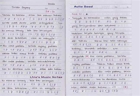 lhia s music notes not angka denda terlalu sayang lhia 39 s music notes