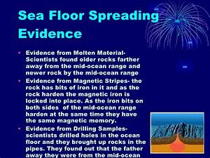 Continental drift theory template for Evidence for sea floor spreading has come from