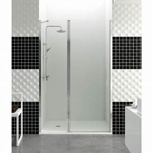 paroi de douche porte battante helia d robinet and co With porte de douche double battant 80