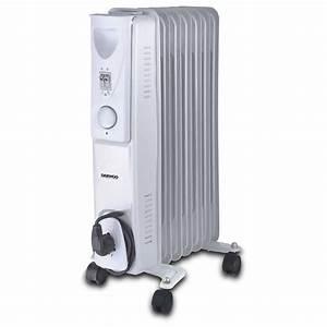Radiateur A Bain D Huile : radiateur bain d 39 huile lectrique daewoo doh 277 1500 w ~ Dailycaller-alerts.com Idées de Décoration