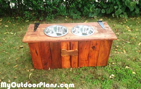 diy food  water dog tray  food storage