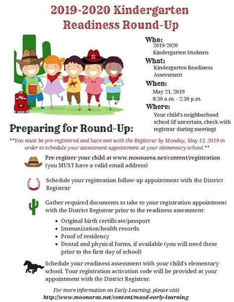 kindergarten readiness information bon meade