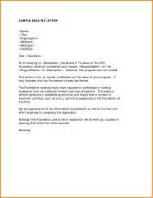 Decline Job Offer Letter Sample