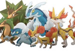 Pokemon X and Y Starter Evolutions