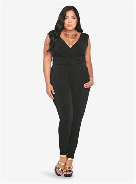 plus size jumpsuits plus size black romper jumpsuits