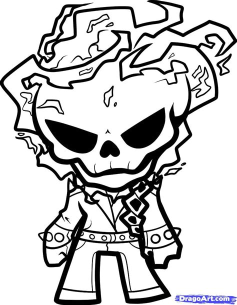 ghost rider coloring page skull s 1 all things skulls