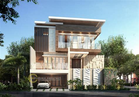 desain rumah mewah modern  lantai  jakarta jasa arsitek