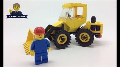lego vintage town  bulldozer front loader