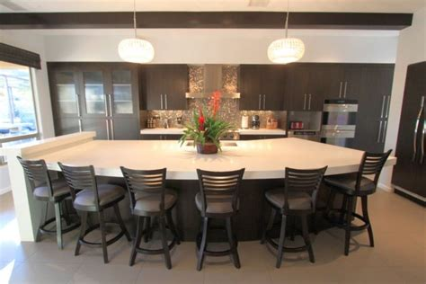 large kitchen islands with seating for 6 kitchen island with seating for six half moon shaped 9878