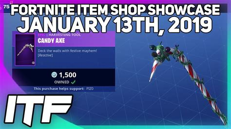 fortnite item shop candy axe nog ops   january