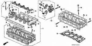 1997 Honda Civic 2 Door Ex  Abs  Ka 4at Cylinder Head  V